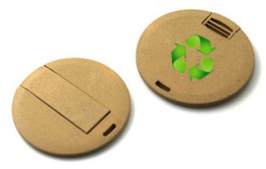 Memoria USB en Fibra Vegetal Biodegradable