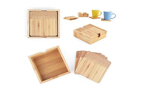 Set de Portavasos Bamboo