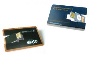 Memoria USB Tarjeta