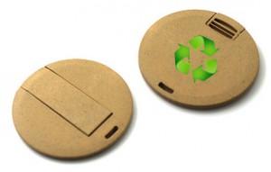 Memoria USB en Fibra Vegetal Biodegradable
